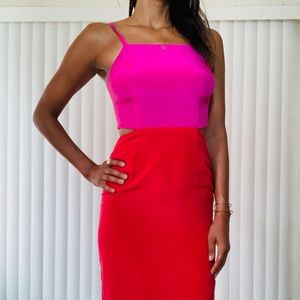 Mara Hoffman Two-Tone Midi Dress